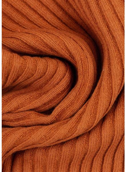 Swafing burnt orange - thick ridge ribbing
