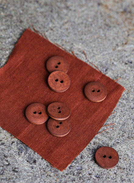 Mind The Maker Sienna - curb cotton button  - 18 mm
