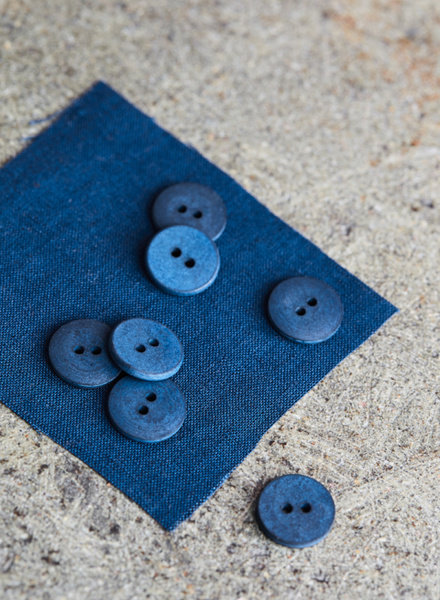 Mind The Maker Ocean - curb cotton button  - 18 mm