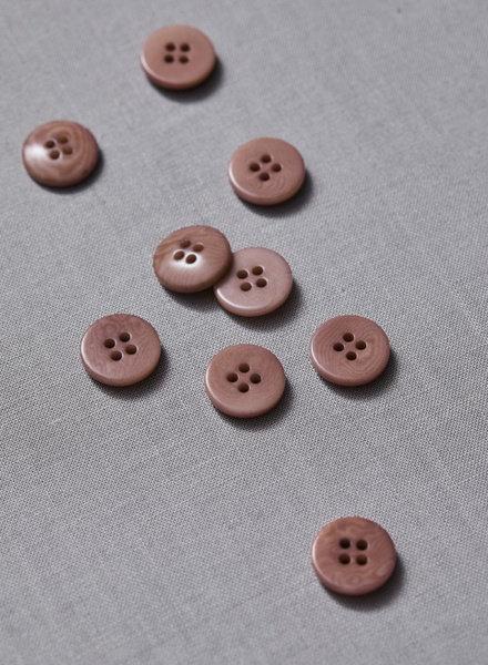Meet Milk dusty pink - plain corozo button - 15 mm