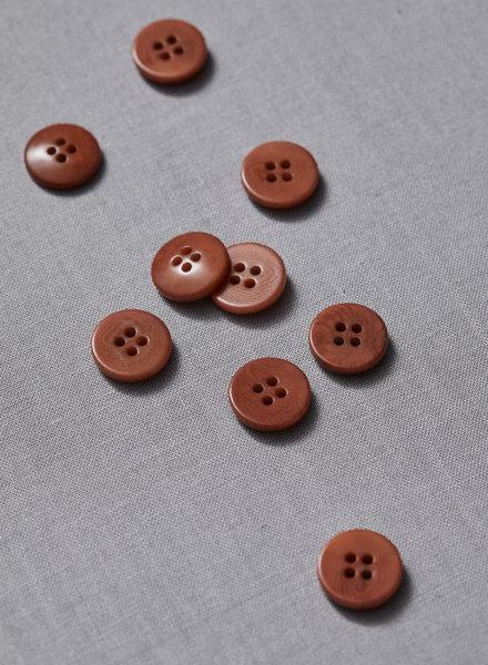 Meet Milk rust - plain corozo button - 15 mm