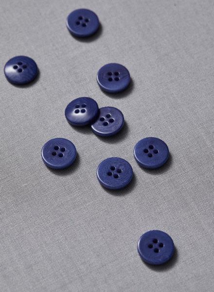 Meet Milk lapis - plain corozo button - 15 mm