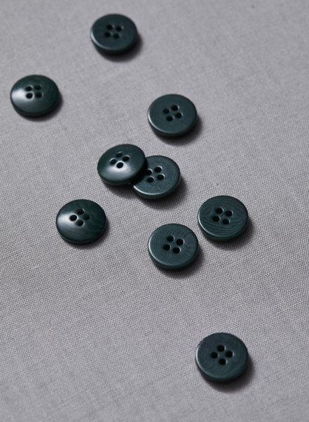 Meet Milk emerald - plain corozo button - 15 mm