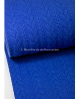 M cobalt - sweater with cable texture
