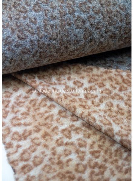 M Cheetah print - Italian woolen coat fabric