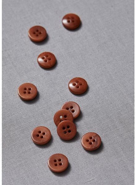 Meet Milk rust - plain corozo button - 11 mm