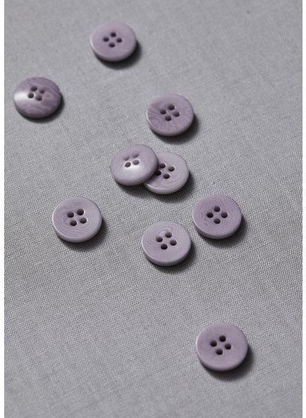 Meet Milk paars - effen corozo knoop - 11 mm