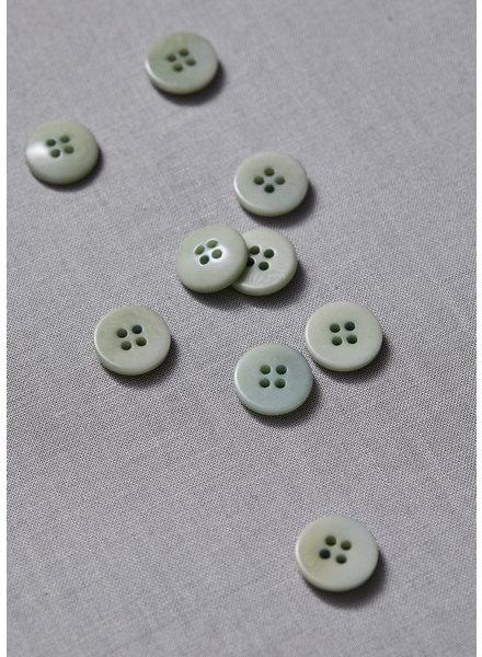 Meet Milk soft mint - plain corozo button - 11 mm