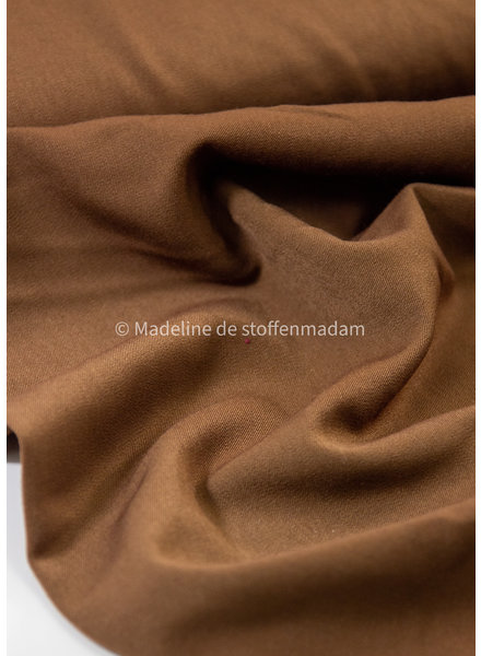 mokka - soepelvallende  (broeken)stof