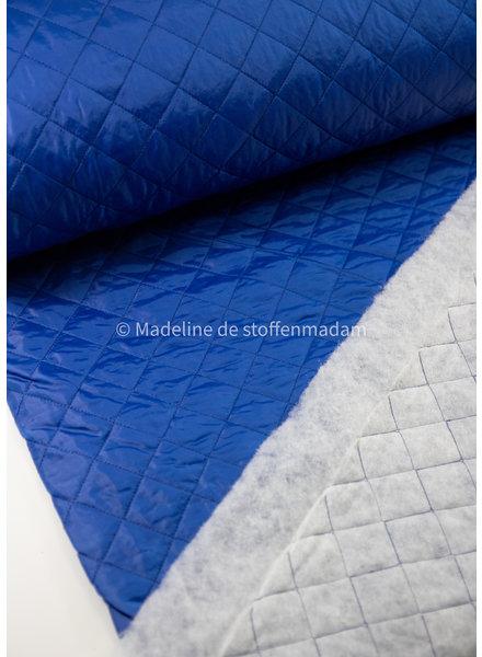 M cobalt - matelassed lining
