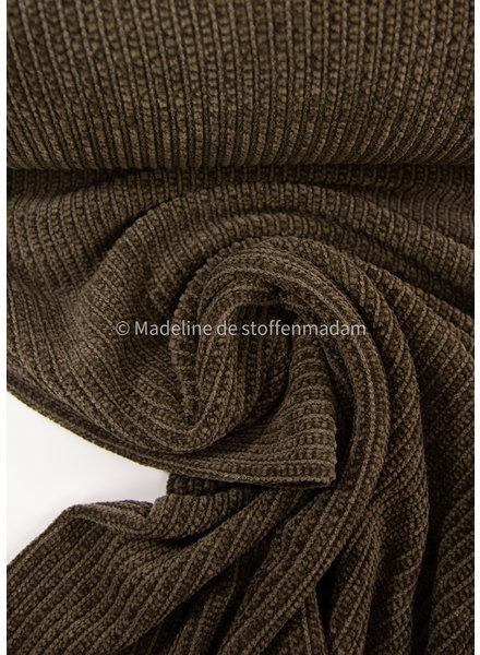 M soft knitted chenille - khaki