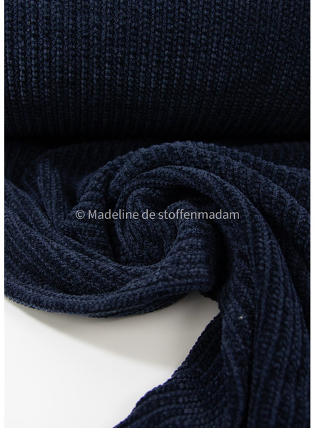 M soft knitted chenille - navy