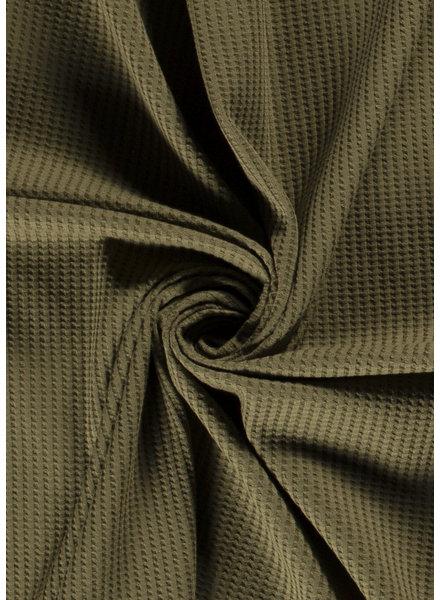M bosgroen - waffle knit