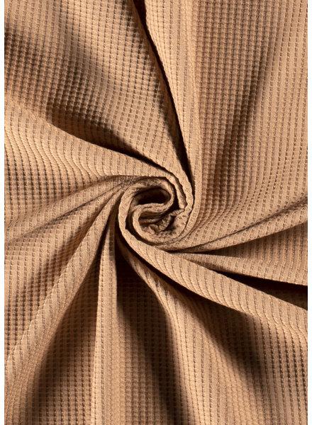 M camel - waffle knit