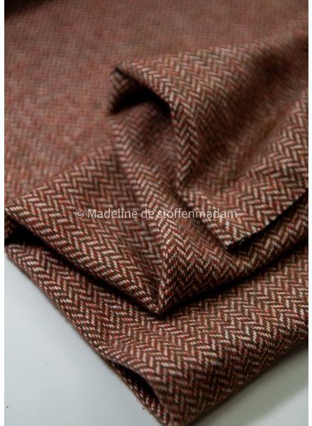 Bittoun herringbone cognac - coat fabric