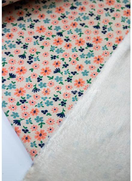 M beautiful flowers - happy fleece