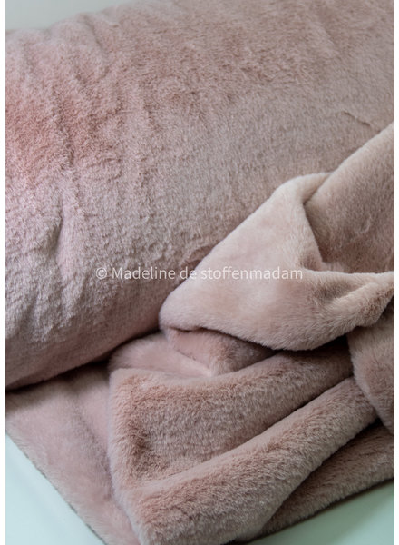 M dusty pink faux fur - soft imitation fur