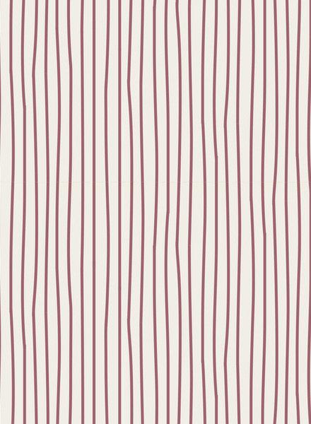 Tilda Pen stripe pink - katoen