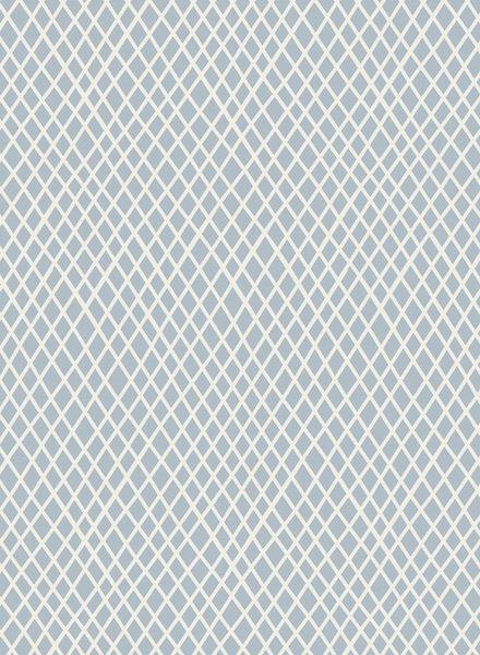 Tilda Crisscross light blue - katoen