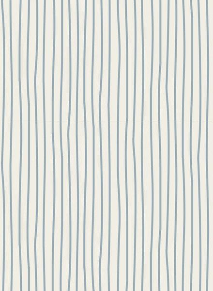 Tilda Pen stripe light blue - katoen