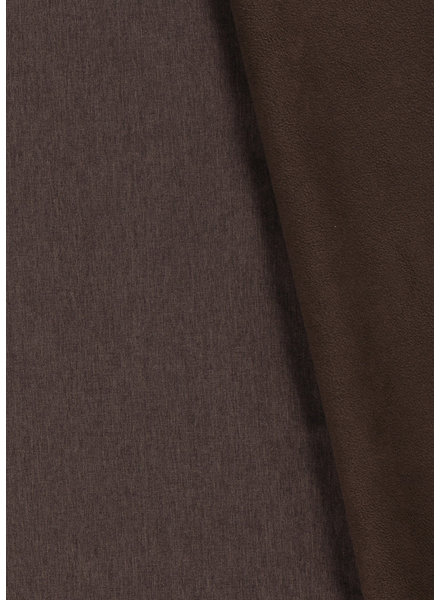 dark brown melange - softshell