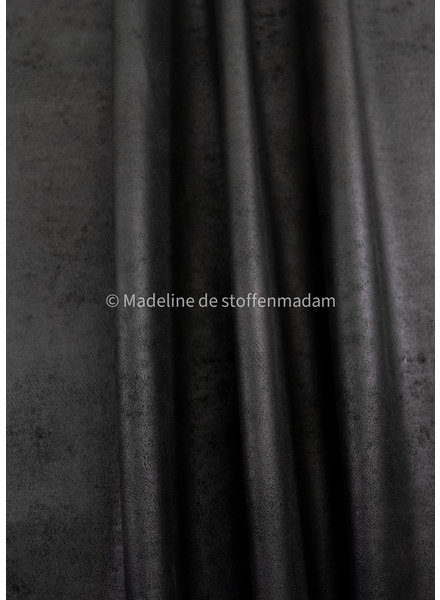 M black vegan leather - perfect for bags and furniture - nice quality