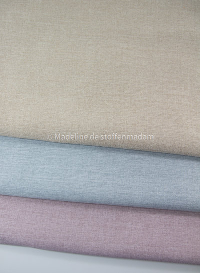 M zandkleurig geruwd doek met fleece achterkant - perfect voor tassen of om te stofferen - voor interieur