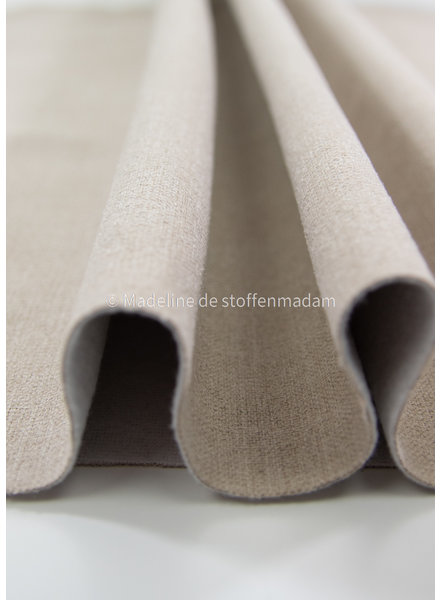 M sand rugged fabric with fleece backing - perfect for bags and furniture - interior fabric