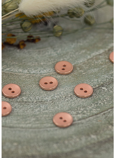 See You at Six Button 10 mm - Metal Texture Rosé Copper