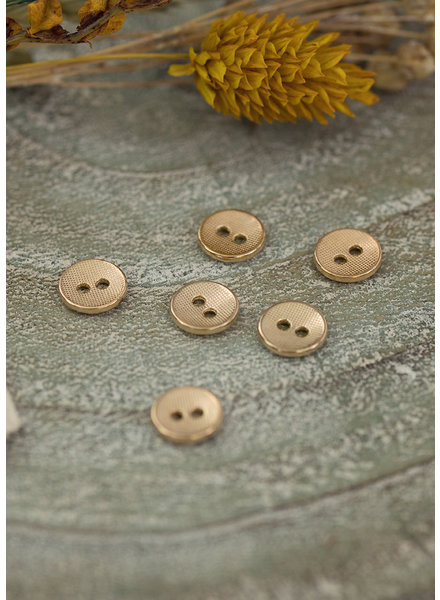 See You at Six Button 11 - Metal Texture - Soft Gold