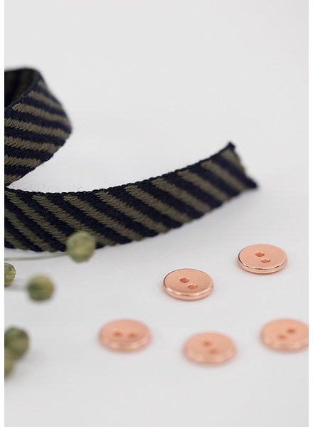 See You at Six Button 10 mm - Metal Smooth Rosé Copper