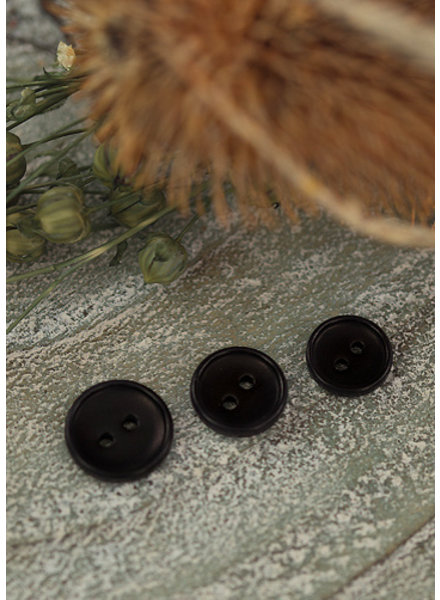 See You at Six Button  12mm - Corozo - Black
