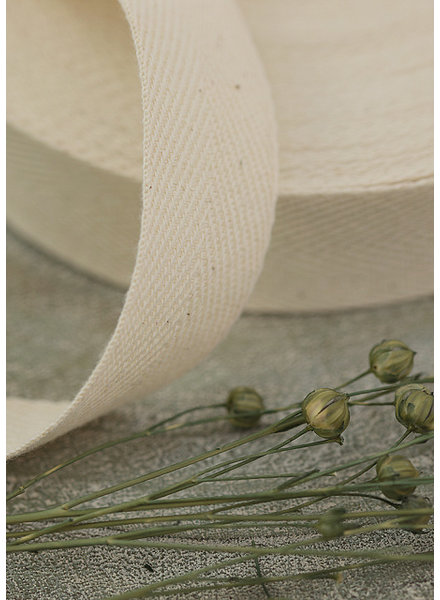 See You at Six Twill Tape - Cotton - Natural
