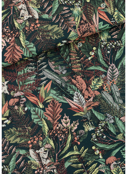 See You at Six Autumn Joy - Cotton Gabardine TWILL - Forest River