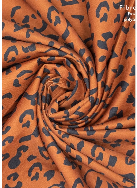 Fibremood denim leopard print black on cognac - Alida Flora