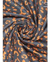 Fibremood denim leopard print cognac on black - Alida Flora