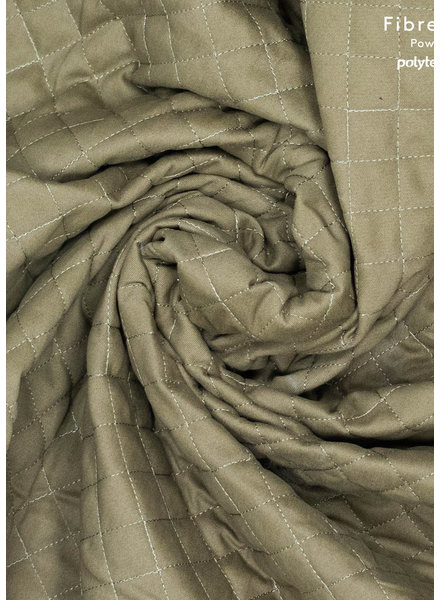 Fibremood khaki denim - quilted fabric - double face - Micky