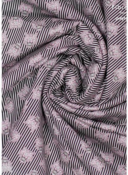 Fibremood dunne stretchkatoen met tijgerhoofdjes - Odille