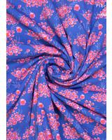 Fibremood pink flowers viscose cotton mix - Ermine