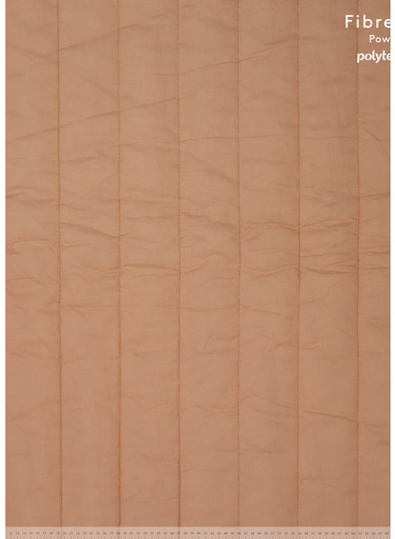Fibremood almond gematelasseerde katoen - verticaal stiksel - Irma Giselle