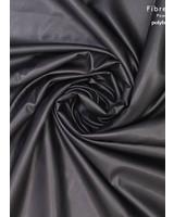 Fibremood zwart - imitatieleer stretch zachte achterkant - Tilda Flora