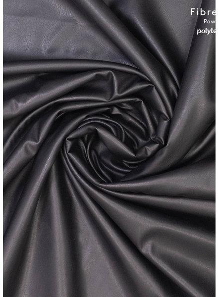 Fibremood black - vegan leather stretch soft backside - Tilda Flora
