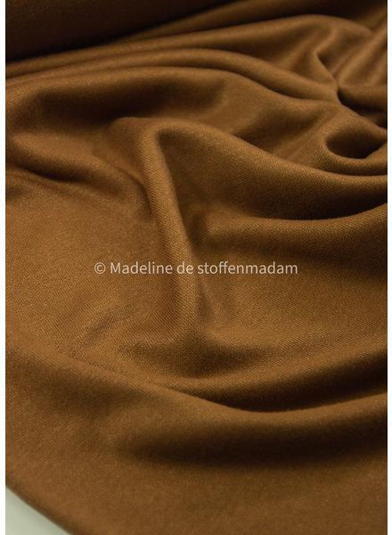 M cognac -  soft knitted viscose interlock