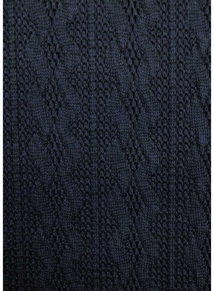 M navy - light knitted fabric with cable texture