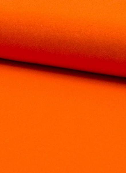 effen tricot oranje