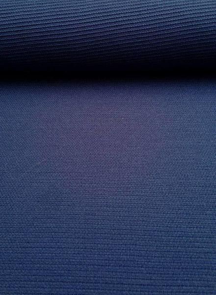 koningsblauwe structuurtricot