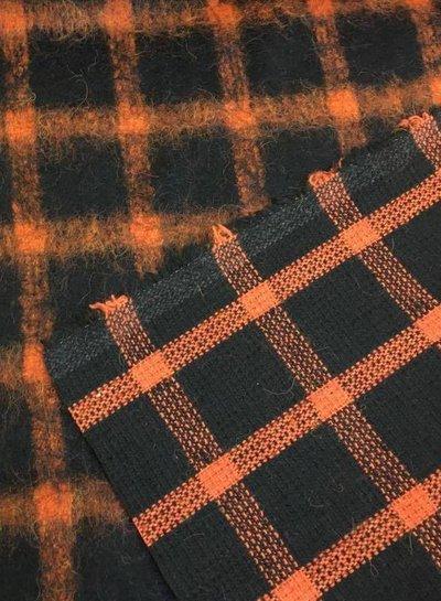Swafing checks coat fabric