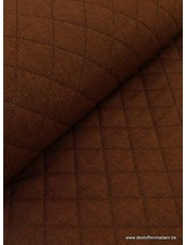brown stitched decofabric