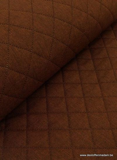 brown stitched decofabric