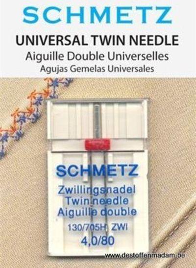 Schmetz - Universele tweelingnaald 80